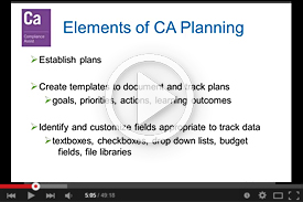 YouTube Video: Introduction to Compliance Assist, Planning